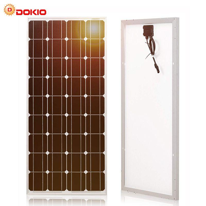 Dokio marque panneau solaire chine 100W silicium monocristallin 18V 1175x535x25MM taille Top qualité batterie solaire chine # DSP-100M
