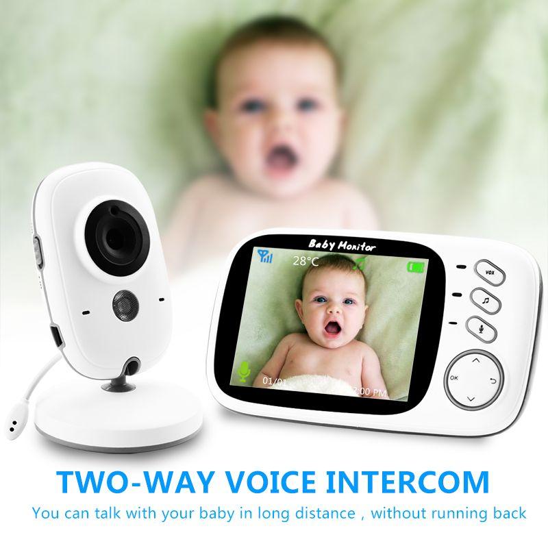 VB603 moniteur de bébé couleur vidéo sans fil avec 3.2 pouces LCD 2 voies Audio parler Vision nocturne Surveillance caméra de sécurité Babysitter
