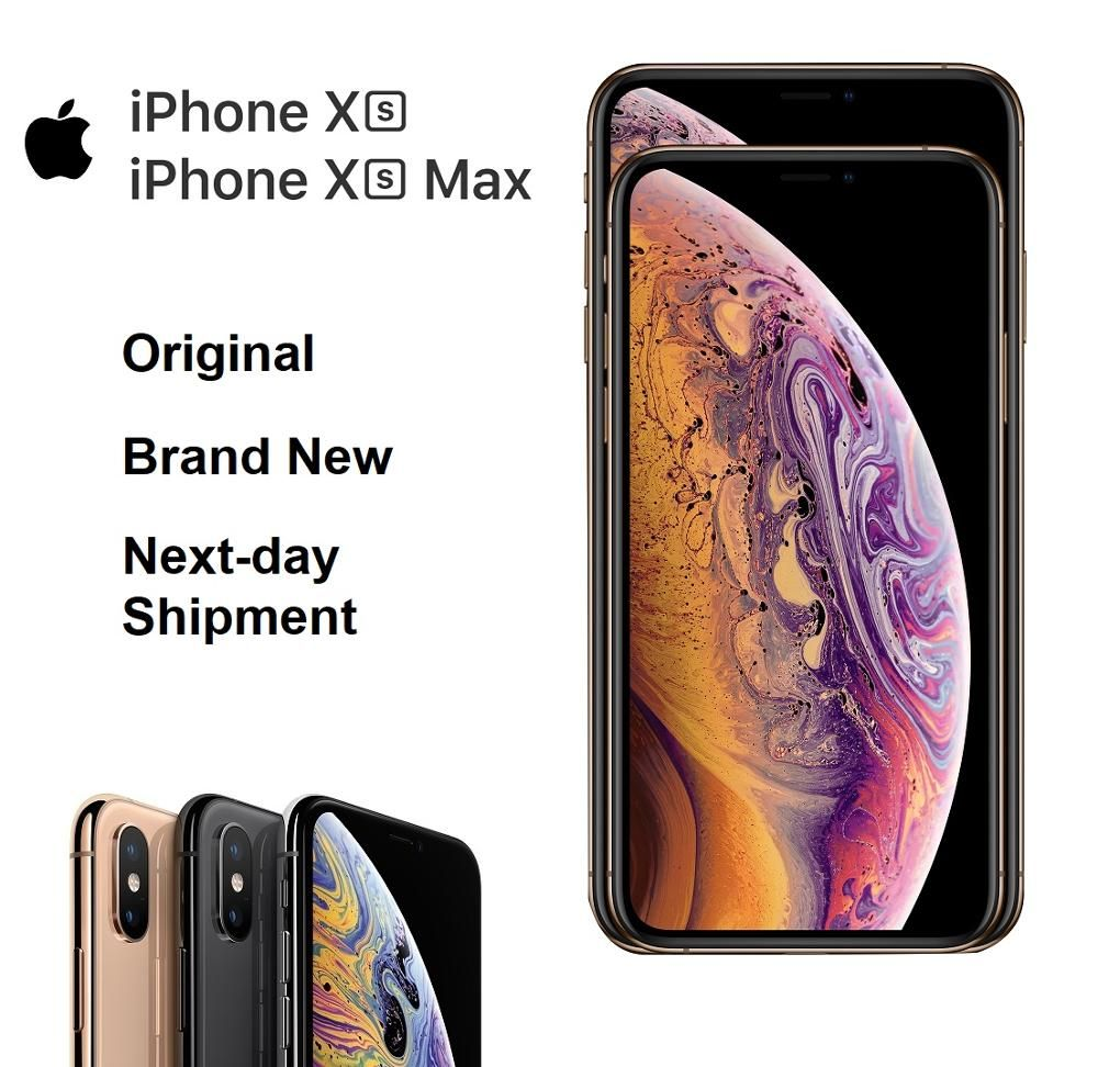 Original Neue iPhone Xs/Xs Max 4G LTE FaceID Alle Bildschirm 5,8/6,5