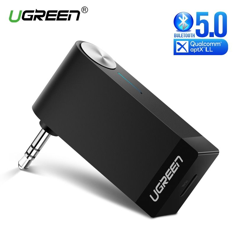 Ugreen Bluetooth récepteur 5.0 sans fil aptX LL 3.5mm voiture Aux 3.5 Jack adaptateur stéréo musique casque Bluetooth Audio récepteur