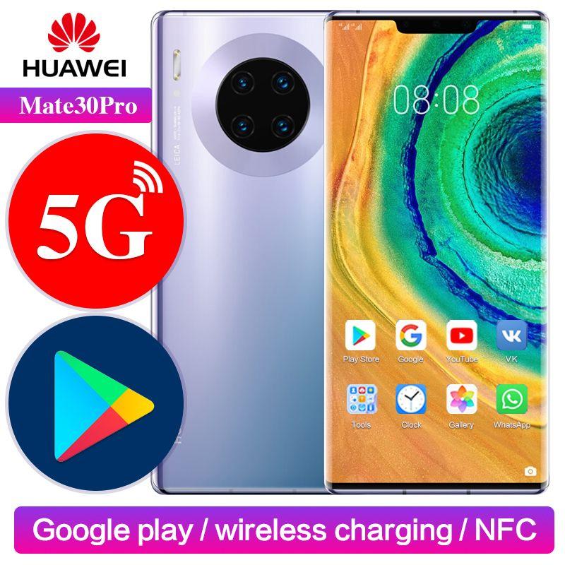 Huawei Mate 30 pro 5G Version Google Spielen Unterstützung NFC Globale ROM Entsperren 8GB 256GB Mate30pro 40MP 6,53 zoll Kirin 990 Mobiltelefon