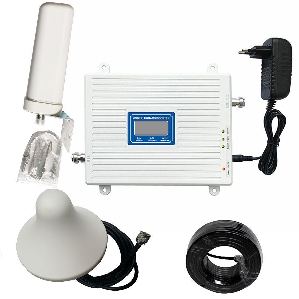 2G 3G 4G Triple-Band-Signal Booster GSM 900 DCS 1800 FDD LTE 2600 Handy Signal repeater Handy Cellular Verstärker