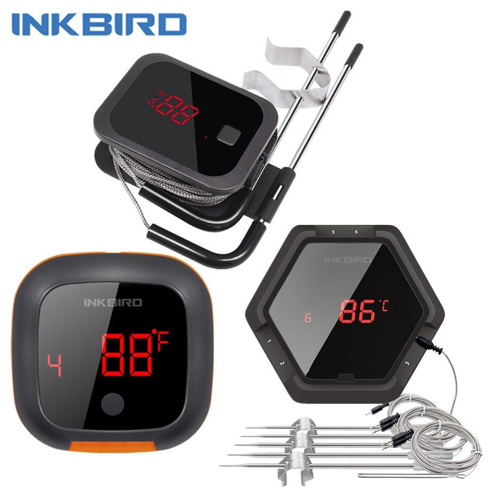IBT 2X 4XS F001 3 Types Food Cooking Bluetooth Wireless BBQ Thermometer IBT-2X Probes&Timer For Oven Meat Grill Free App Control