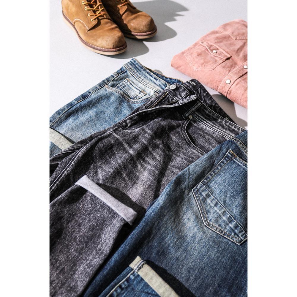 SIMWOOD 2019 Nouveaux Jeans Hommes Classique Jean Haute Qualité Jambe Droite Mâle pantalons décontractés grande taille Coton Denim Pantalon 180348