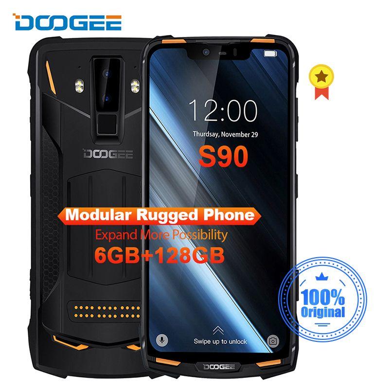 DOOGEE S90 IP68/IP69K Robuste Handy Schnelle Ladung 6,18 ''19:9 Bildschirm 5050mAh Octa Core 6GB 128GB Android 8.1 NFC Unterstützung