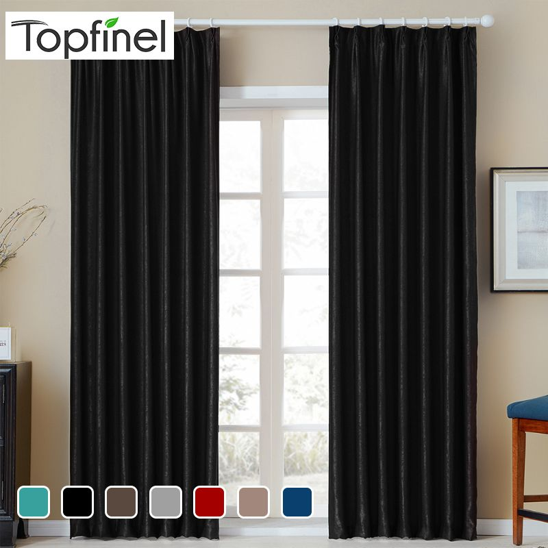 Topfinel solide velours rideaux occultants pour salon chambre doux confortable rideaux chaud nuit moderne diverses couleurs