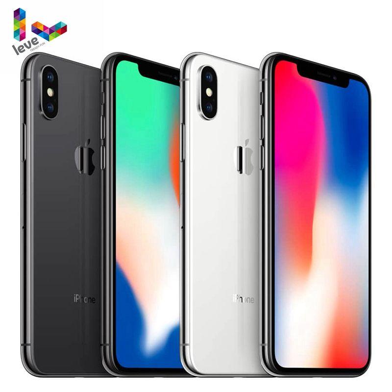 Apple iPhone X Gesicht ID 64 GB/256 GB ROM 3GB RAM Hexa Core 5,8 zoll iOS A11 12MP Dual Zurück Kamera 4G LTE Entsperrt Handys