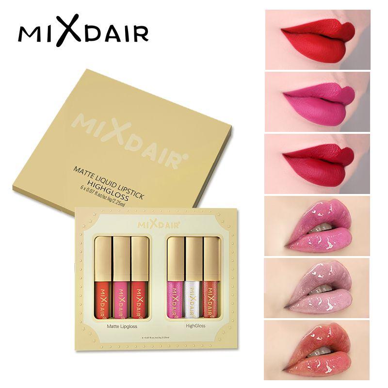 MIXDAIR liquide mat rouge à lèvres pour lèvres imperméable longue durée Sexy paillettes rouge lèvres brut point culminant liquide hydratant lèvres