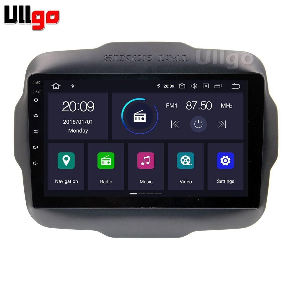 Android 9.0 Auto Kopf Einheit für Jeep Renegade 2016 + Autoradio GPS 1 din Auto Radio GPS in Dash GPS mit BT RDS Wifi Spiegel-link