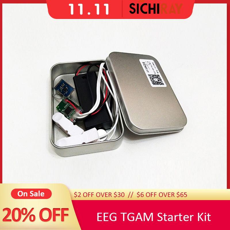Kit de démarrage TGAM capteur d'ondes cérébrales capteur EEG jouets de contrôle du cerveau pour le développement d'applications Arduino ou Neurosky avec TGAT1 fournissant un SDK
