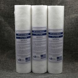 Free Shipping 3pcs/lot PP Sediment Filter 10 inch 1 Micron Polypropylene Replacement PP Water Filter Cartridge Cotton Filter