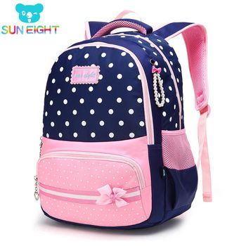 SUN EIGHT New School Bags for Girls Brand Women Backpack Cheap Shoulder Bag Wholesale Kids Backpacks mochilas escolares infantis