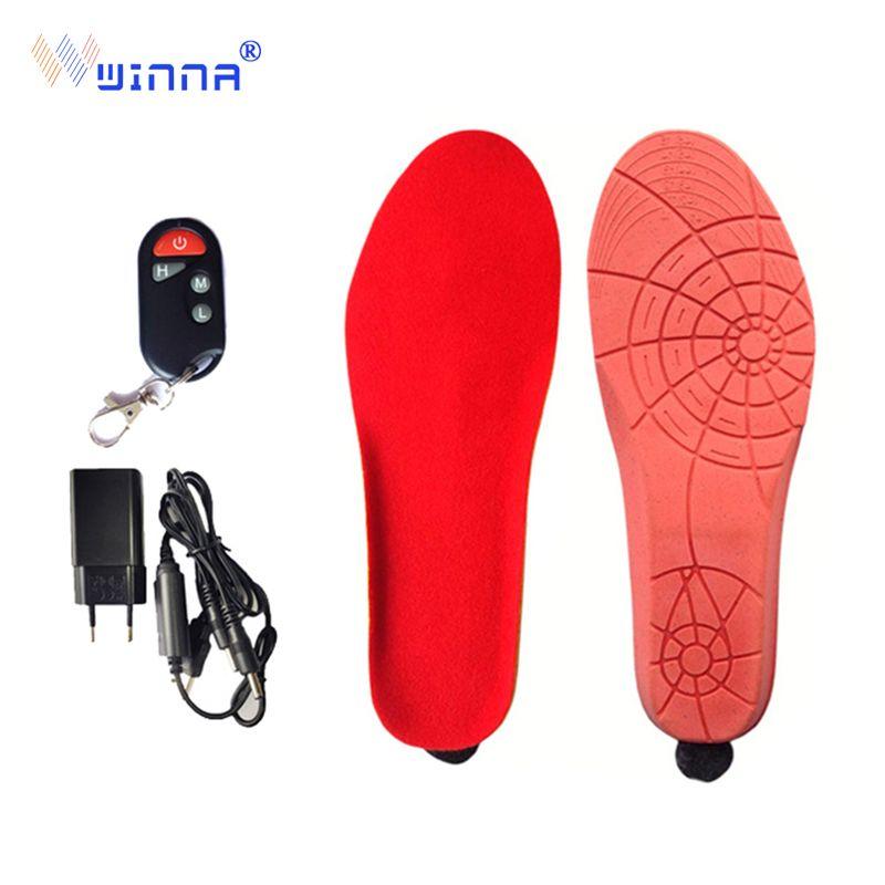 Nouvelles semelles de chauffage avec télécommande sans fil hiver alimentée par batterie pour hommes et femmes grande taille EUR 41-46 coupe pour s'adapter
