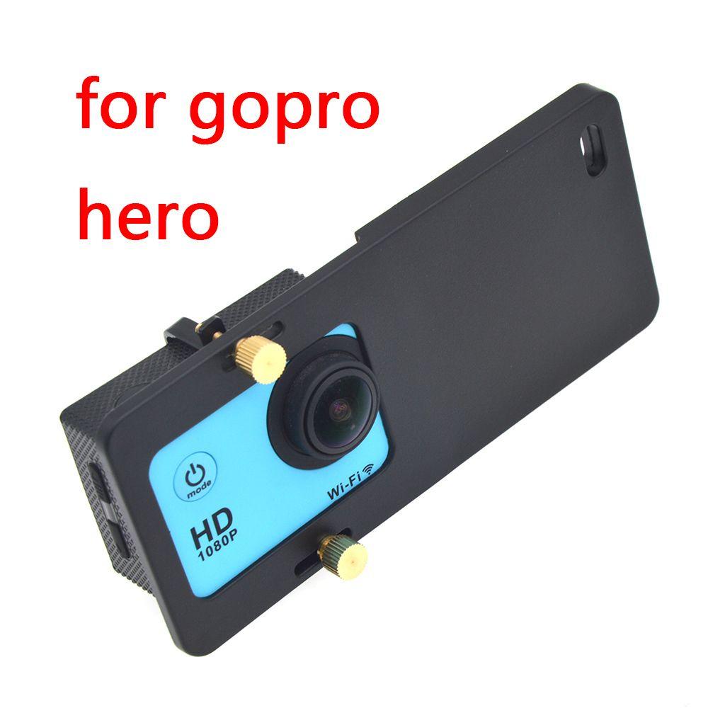 Adaptateur universel de plaque de montage stabilisateur de cardan portable pour Gopro Hero 6/5 Yi 4K Plus DJI Osmo Action 2 cardan de caméra portable