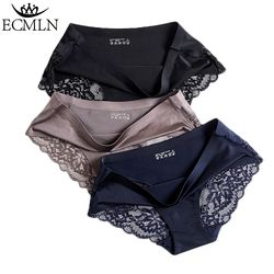 Women's Sexy Lace Panties Seamless Underwear Briefs Nylon Silk for Girls Ladies Bikini Cotton Crotch Transparent Lingerie