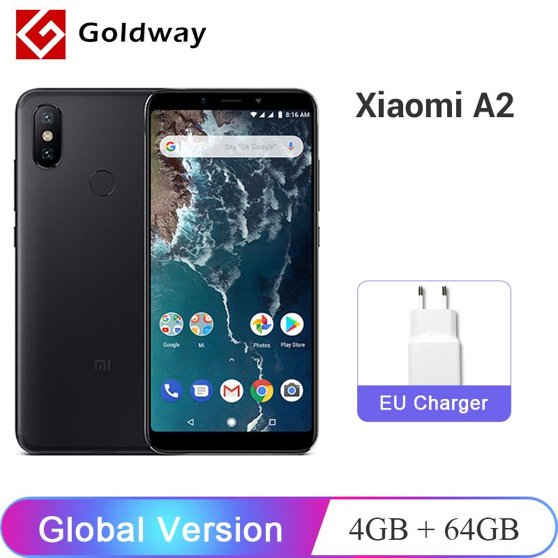 Global Version Xiaomi Mi A2 MiA2 4GB RAM 64GB ROM Mobile Phone Snapdragon 660 Octa Core 5.99