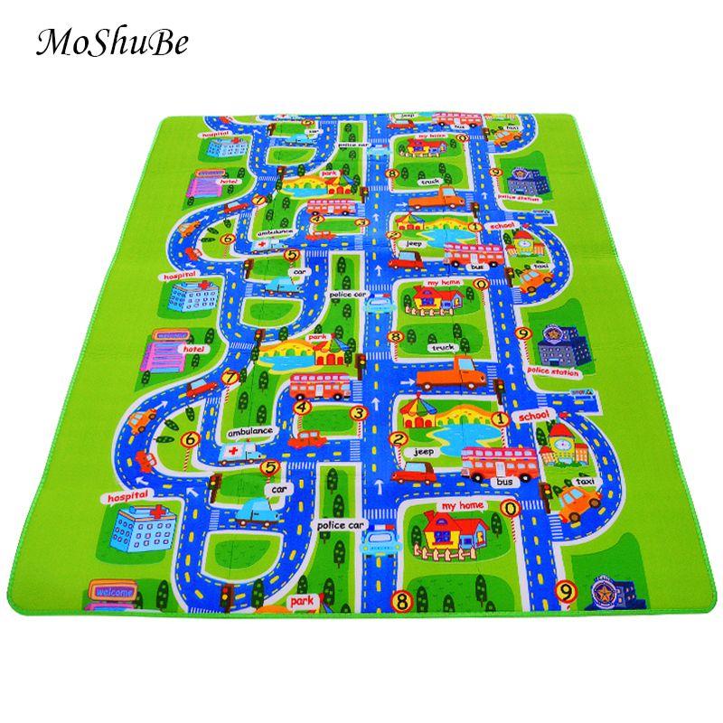 0.5 cm épais ville trafic bébé ramper tapis EVA mousse escalade Pad vert route enfants tapis de jeu pour bébé