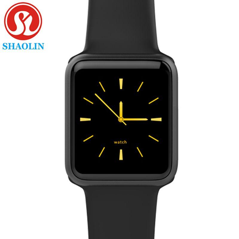 B Smart Uhr Serie 4 Männer Frauen Bluetooth SmartWatch für Apple iOS iPhone Xiaomi Android Smart Telefon (Rot Taste)