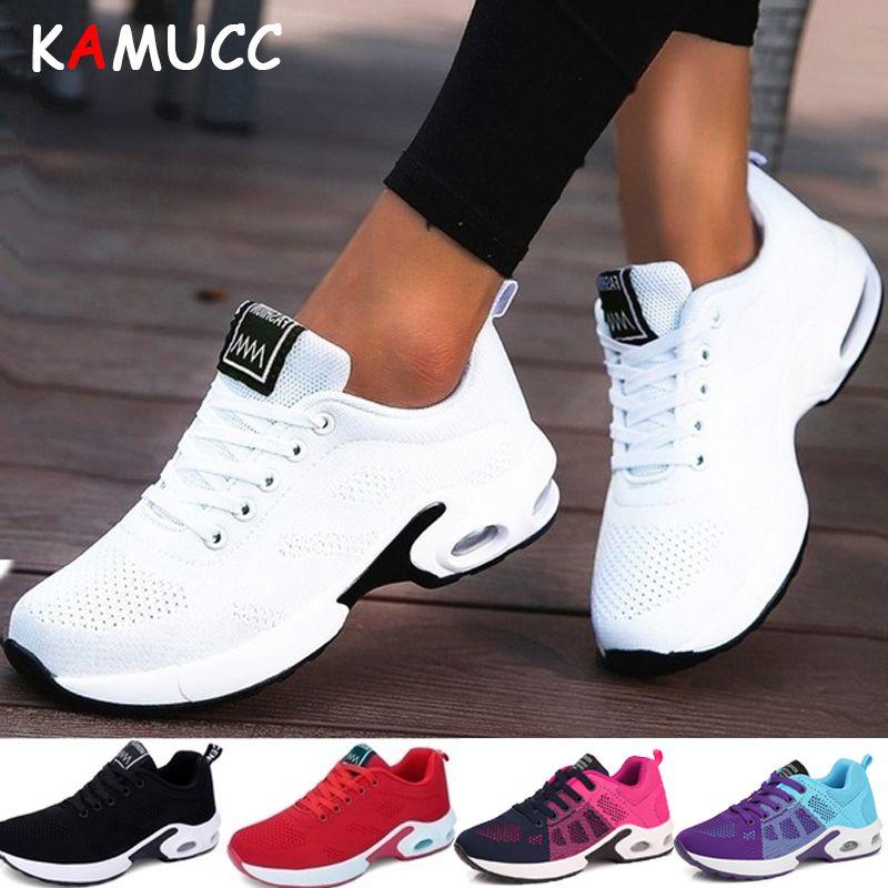 KAMUCC nouvelle plate-forme dames baskets respirant femmes chaussures femme décontractées mode hauteur augmentant chaussures grande taille 35-42