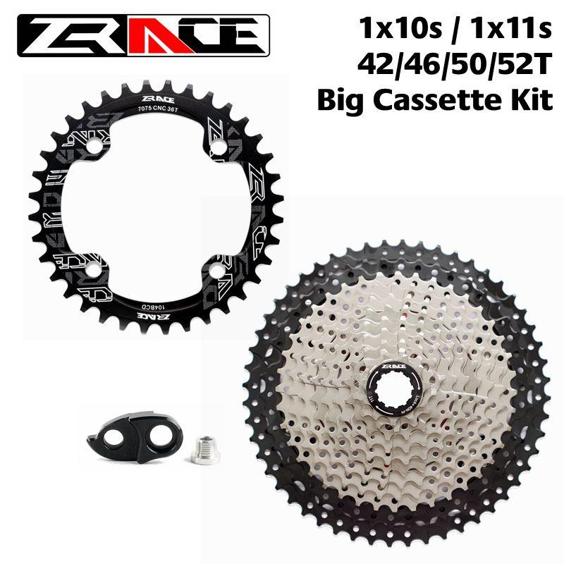 ZRACE plateau 104BCD 32 T/34 T/36 T/38 T + vélo roue libre Cassette 42 T/46 T/50 T/52 T, 1x10 vitesses/1x11 vitesses grand kit Cassette