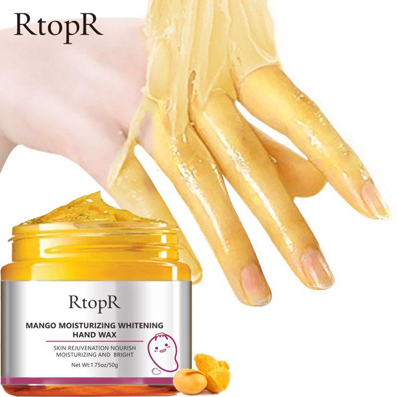 Mangue hydratant cire pour les mains blanchissant la peau masque pour les mains réparation exfoliant callosités Film Anti-âge main traitement de la peau crème 50g