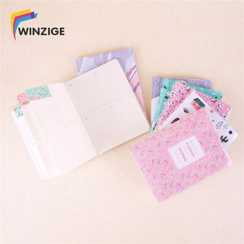 Winzige A6/A7 Weekly Plan Cute Notebook Waterproof A Year Filofax Creative Inner Pages Kawaii Planner Organizer Diary