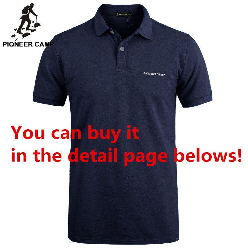 Camp pionnier Marque vêtements Hommes Polo Shirt Hommes D'affaires Décontractée solide mâle polo chemise À Manches Courtes de Haute qualité Pur Coton