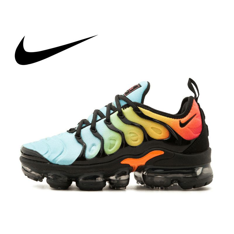 Original authentic 2018 new NIKE VAPORMAX PLUS men's running shoes comfortable wear outdoor sports shoes quality 924453-005