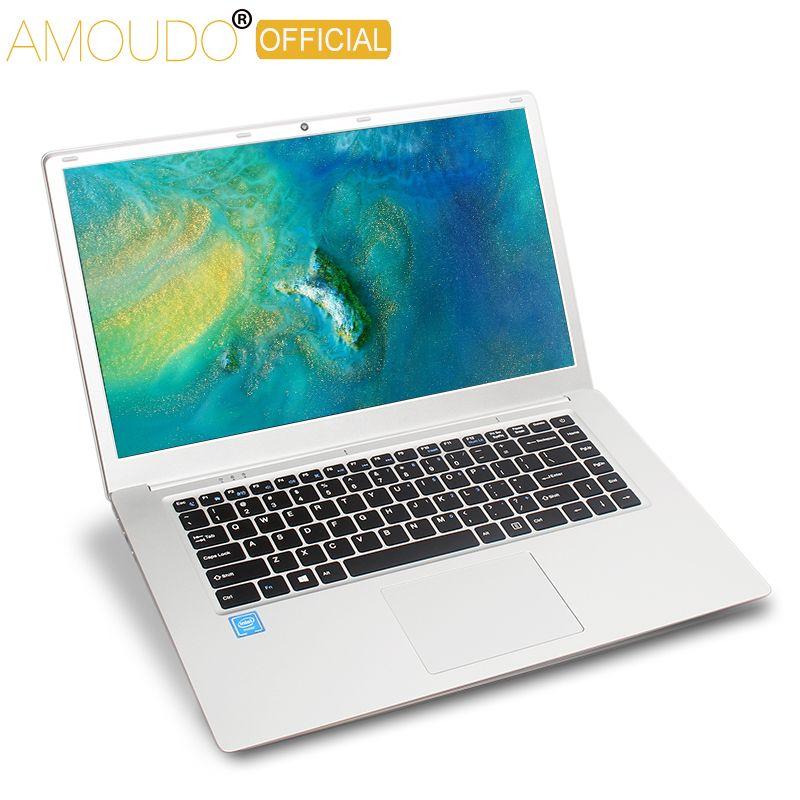 15.6 pouces 4GB Ram 64GB eMMC Windows 10 système 1920X1080P FHD IPS écran Intel Atom E8000 Quad Core ordinateur portable ordinateur portable