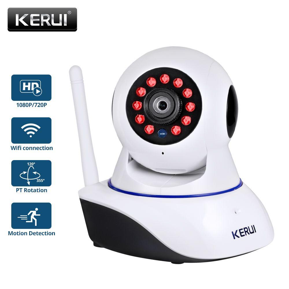 KERUI 720P 1080P HD Wifi sans fil sécurité à domicile caméra IP réseau de sécurité CCTV caméra de Surveillance IR Vision nocturne bébé moniteur