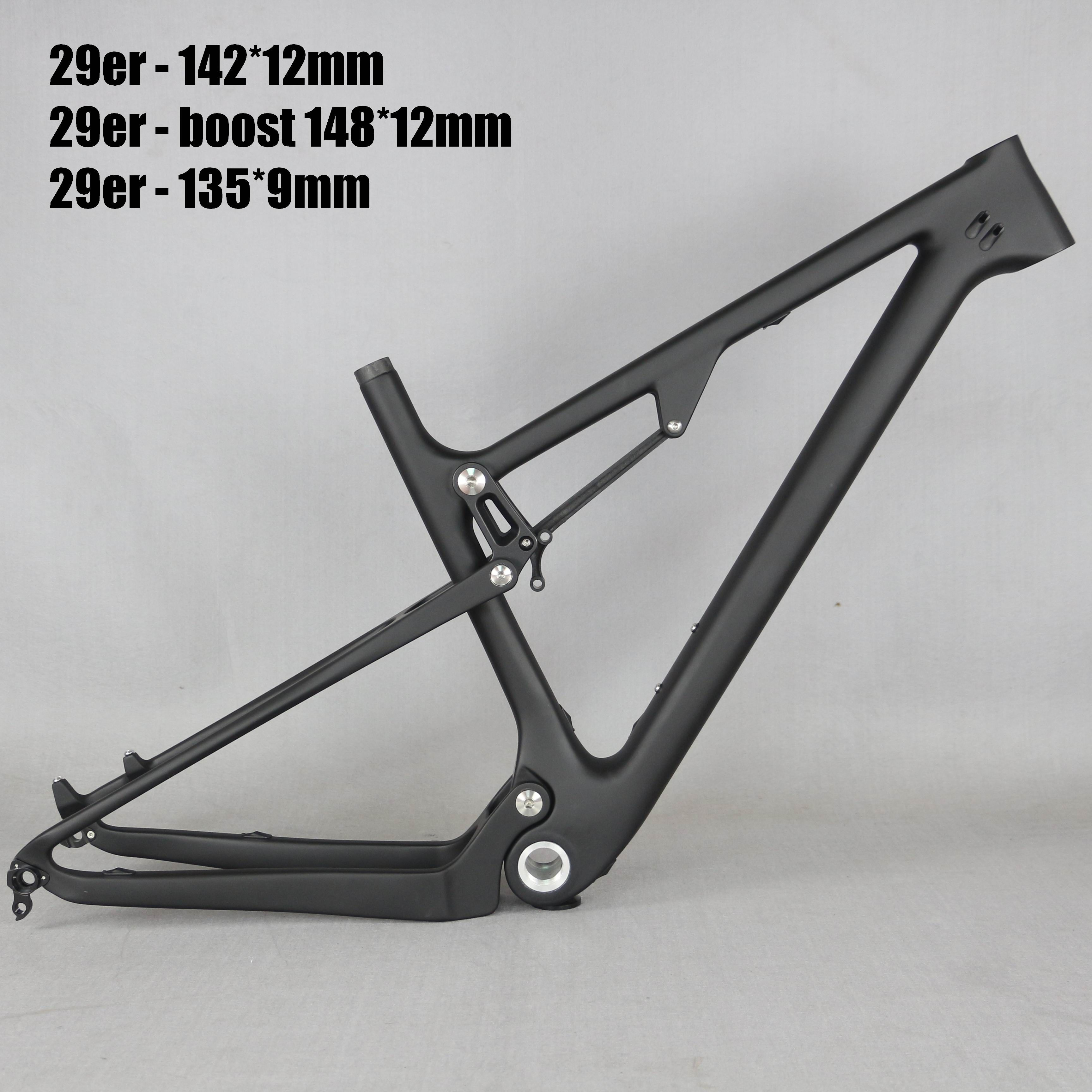 29 volle Suspension 142*12mm MTB Fahrrad Carbon rahmen 29er mit 135*9mm/29er boost suspension 148*12 mountainbike rahmen FM078