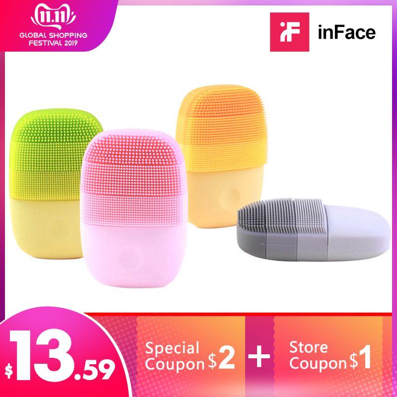 Brosse de nettoyage faciale officielle de visage Mijia nettoyage en profondeur visage étanche Silicone électrique nettoyant sonique chaîne d'approvisionnement Xiaomi