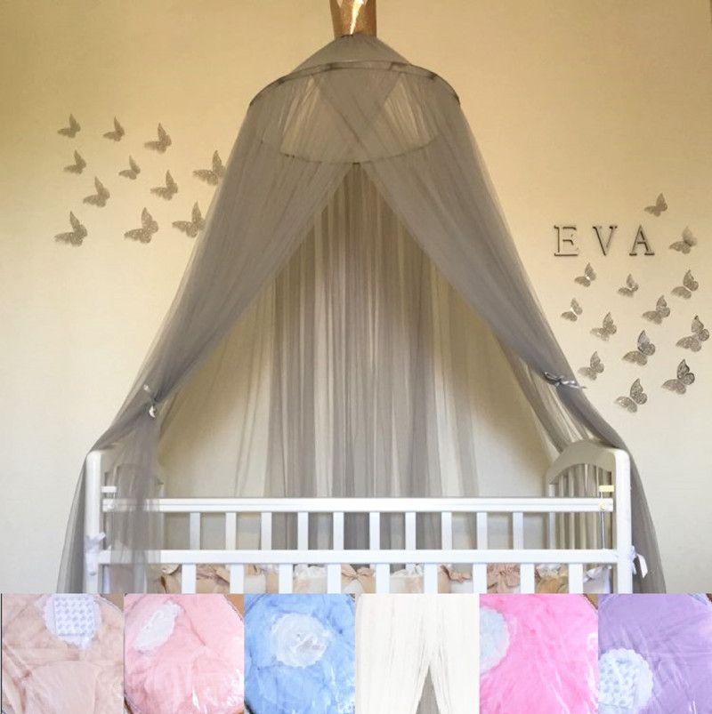 7 couleurs suspendus enfants bébé literie dôme lit auvent coton moustiquaire couvre-lit rideau pour bébé enfants lecture jouant décor à la maison