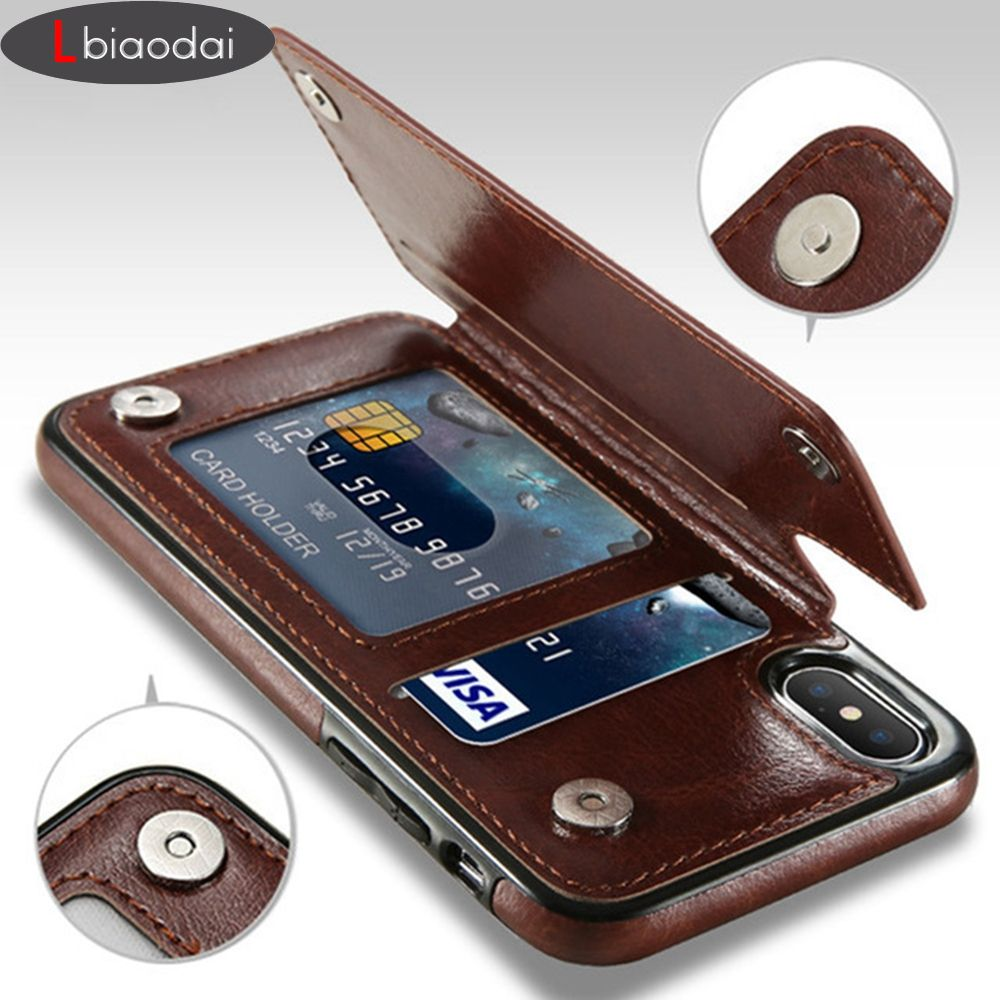 Lbiaodai Retro PU Leather Case For apple iphone