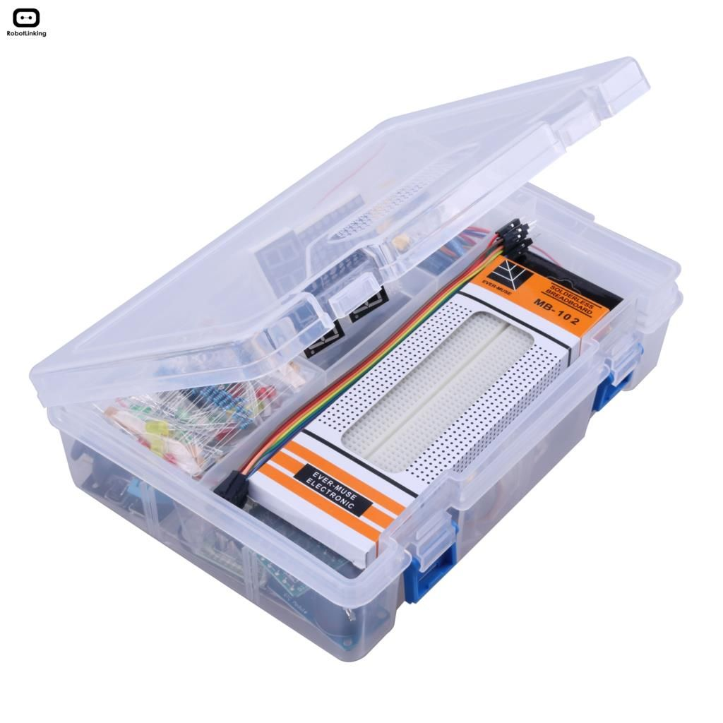 Bricolage électronique de démarreur RFID pour Arduino UNO R3 Kit de Suite d'apprentissage de Version améliorée avec platine de prototypage 830, LCD1602 IIC I2C