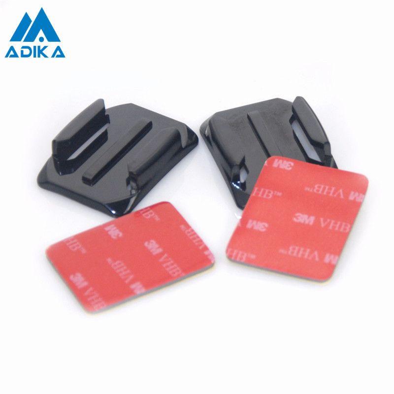 ADIKA 4 pièces courbe fixation de Surface adaptateurs plats support d'arc avec 3M adhésif autocollants support Pasters pour GoPro Hero 4 3 + 3 2 1