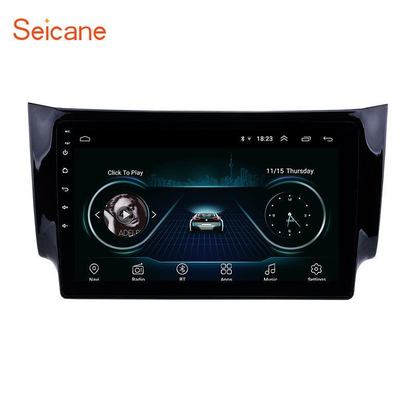 Seicane 2Din GPS Multimedia-Player Kopf Einheit Für 2012 2013-2016 NISSAN SYLPHY 10,1 Zoll Android 8.1 Auto Radio Unterstützung TPMS DVR