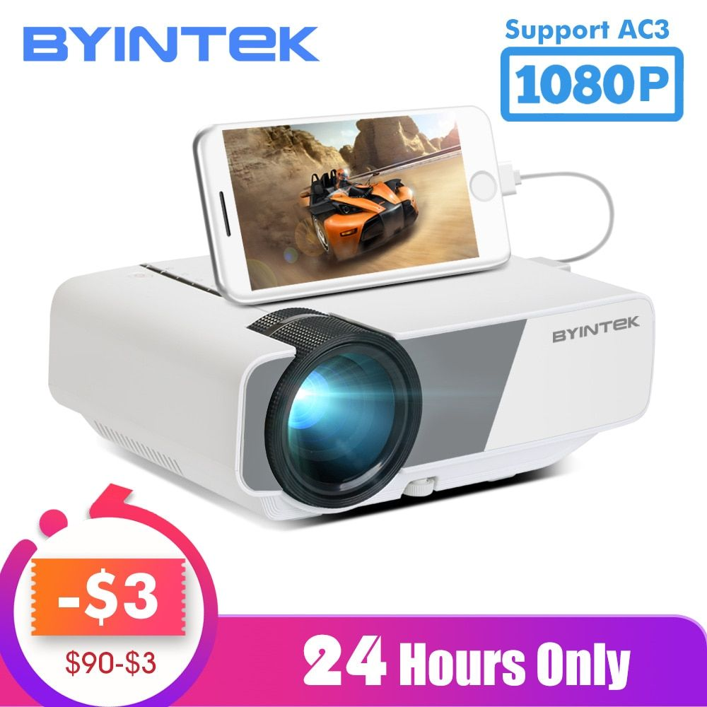 BYINTEK SKY K1/K1plus LED Tragbare Home Theater HD Mini Projektor (Optional Wired Sync Display Für Iphone Ipad telefon Tablet)
