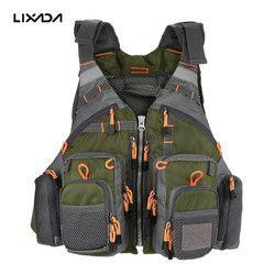Outdoor Sport Fishing Life Vest Men Breathable Swimming Life Jacket Safety Waistcoat Survival Utility Vest Colete Salva-Vidas