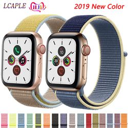Nylon Strap For Apple Watch 5 4 Band Correa apple watch 42mm 38 mm 44mm 40mm iwatch 3 2 pulseira bracelet watchband watch strap