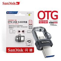 Sandisk USB Flash Drive 64GB  Extreme high speed 150M/S Pen Drive 32GB 256GB  OTG USB3.0 128GB Dual OTG  PenDrive 16GB for phone