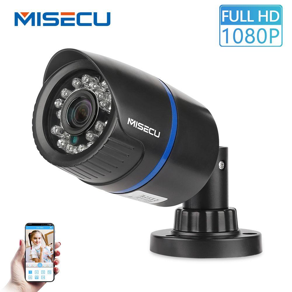 MISECU 2.8mm de large caméra IP 1080P 720P extérieur ONVIF P2P détection de mouvement RTSP Email alerte XMEye 48V POE Surveillance sécurité