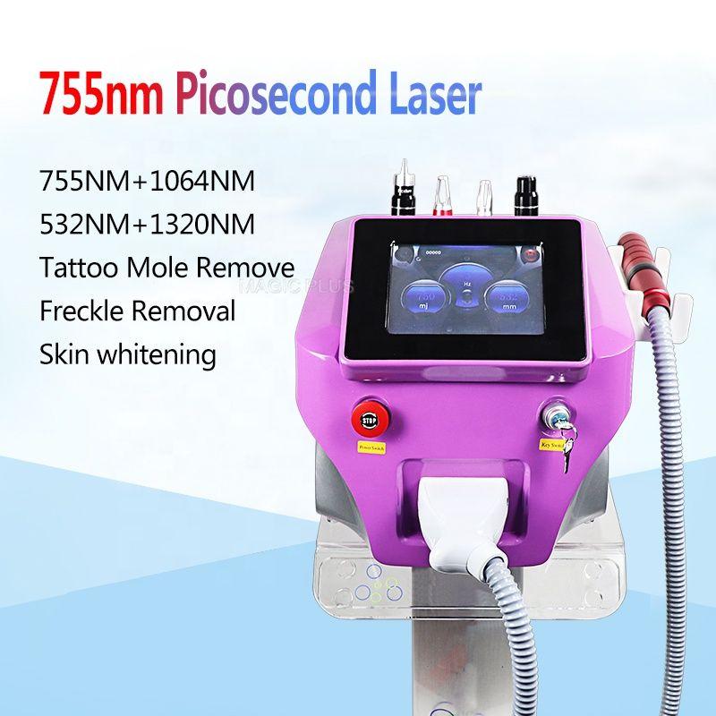 Kostenloser Versand Tragbare Nd Yag Laser Picosure Pikosekunden Laser Mit Carbon Haut Bleaching Tattoo Entfernung Maschine