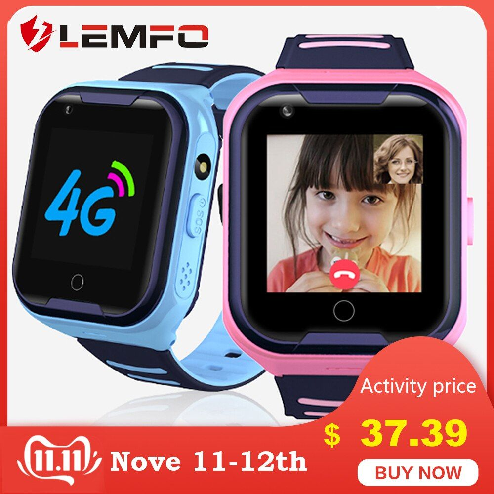 4G Kids Smart Watch GPS Touch Screen SOS SIM Phone Call Waterproof Children Watch with Camera LEMFO Kids Watches