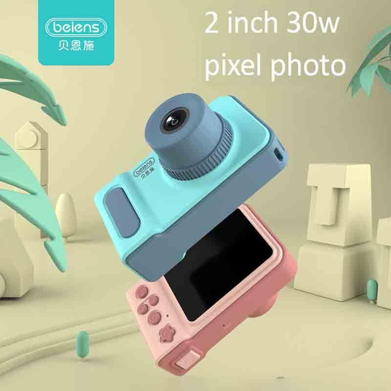 Beiens enfants caméra jouets bébé Cool appareil Photo numérique enfants jouet éducatif 12 langues 32G soutenu cadeaux d'anniversaire