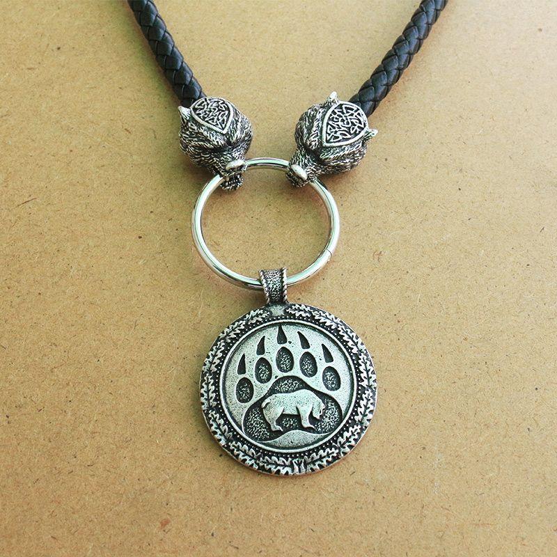 Lanseis 1 pièces pendentif patte d'ours Viking ours slave collier homme païen talisman chrm pendentif nordique. Celti talisman