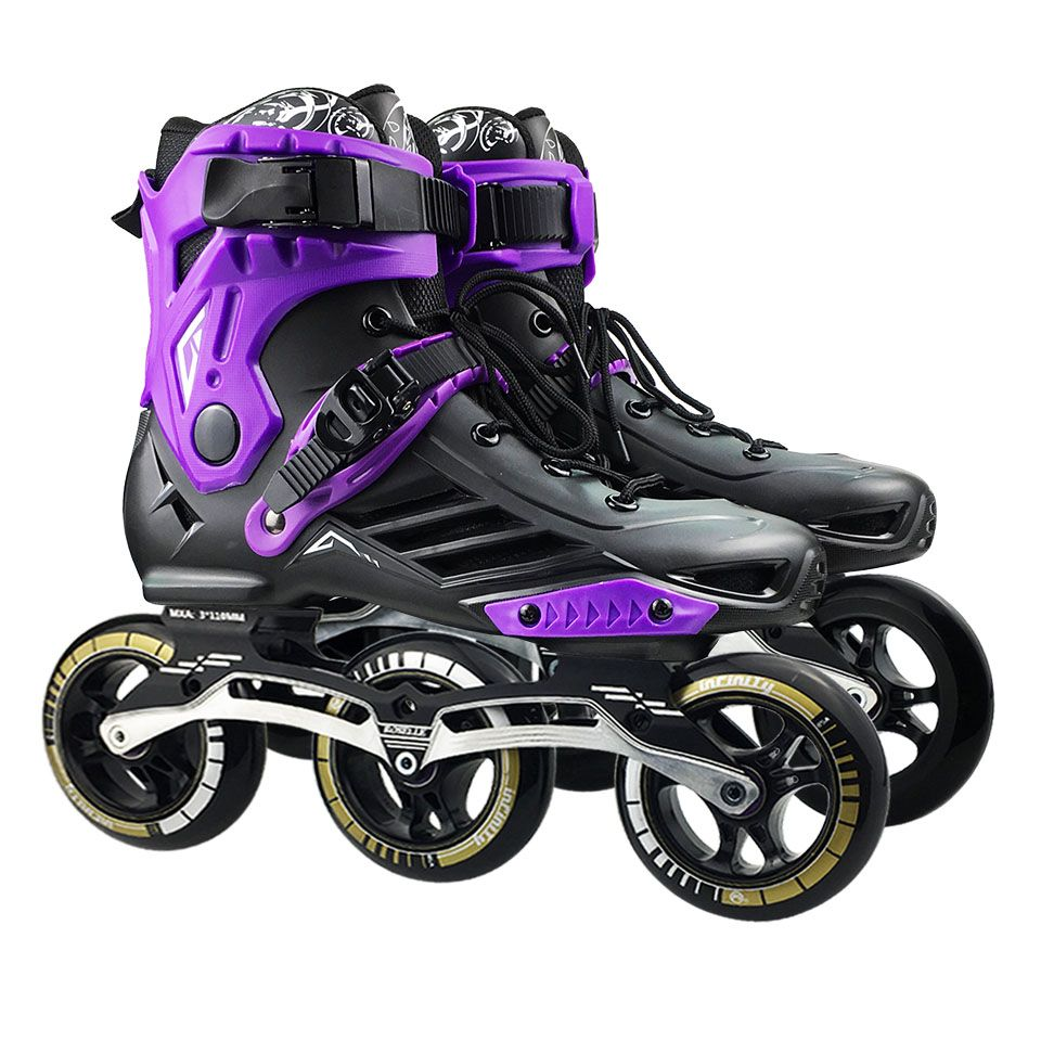 Geschwindigkeit Inline Rollschuhe Berufs Halbe Stiefel Skating Schuhe 3*110mm Räder Größe 35 zu 46 Freies Skating rollerblade SH62