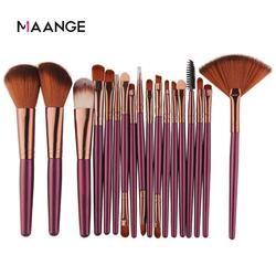 Maange 6/15/18Pcs Makeup Brushes Alat Set Kosmetik Bubuk Eye Shadow Foundation Blush Blending Kecantikan Makeup sikat Maquiagem