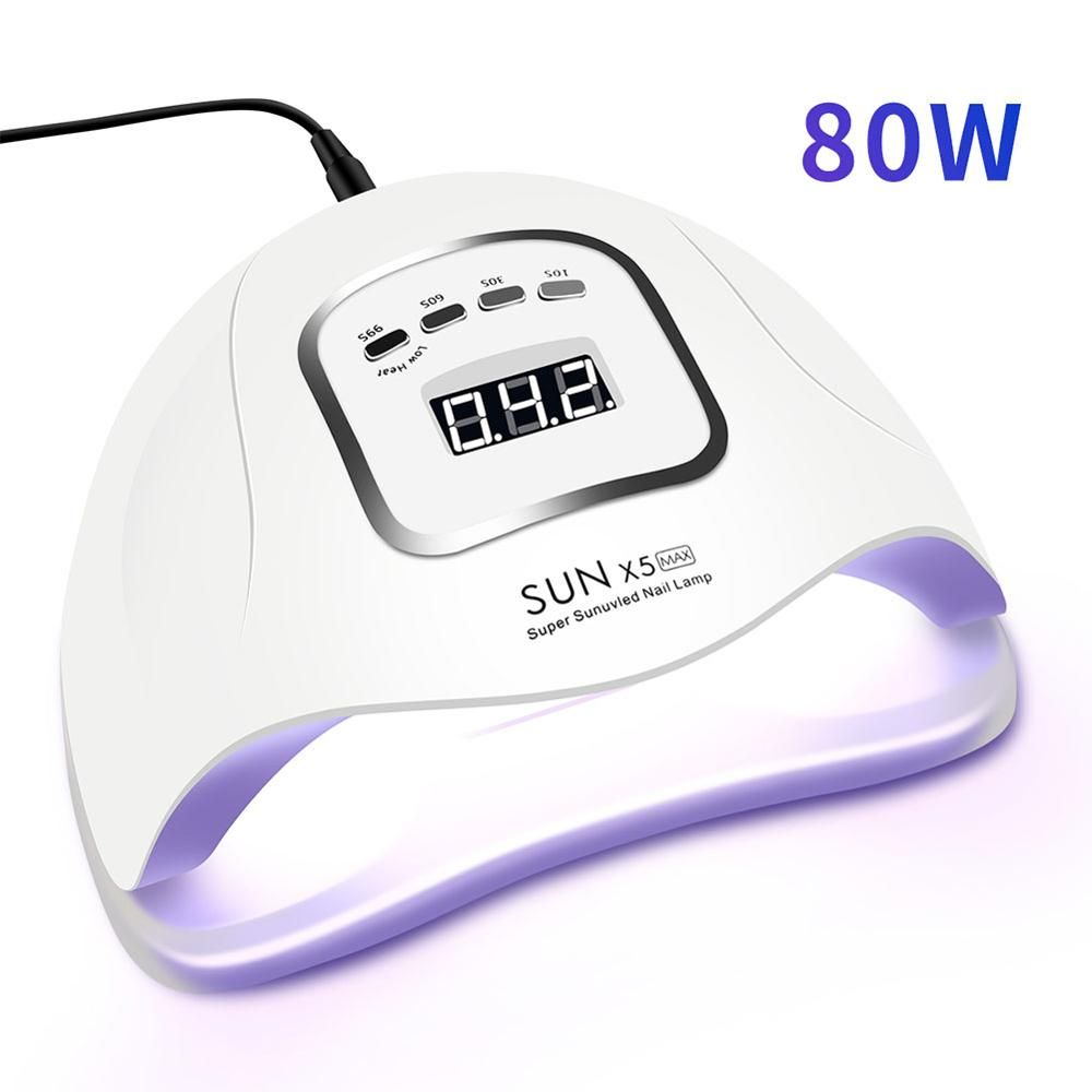80W LED Nail Lamp for Manicure Nail Dryer 45 PCS LEDs UV Lamp For Curing UV Gel Nail Polish With Motion sensing LCD Display