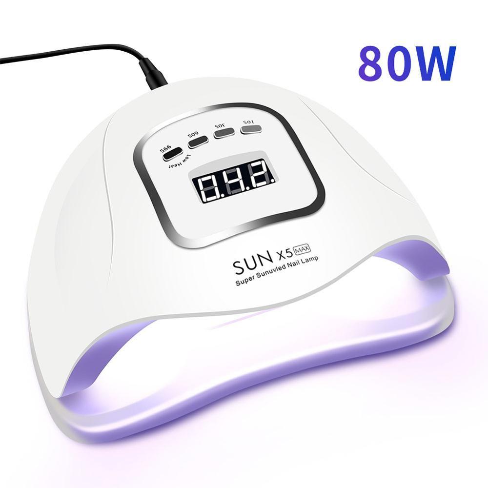 80W lampe LED pour ongles pour manucure sèche-ongles 45 pièces LED s lampe UV pour le traitement UV Gel vernis à ongles avec détection de mouvement écran LCD